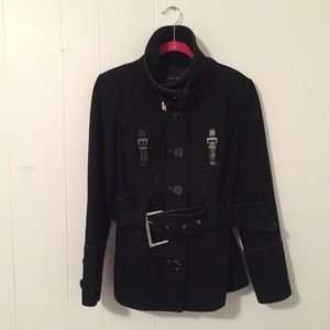 Zara military inspired coat Size Small